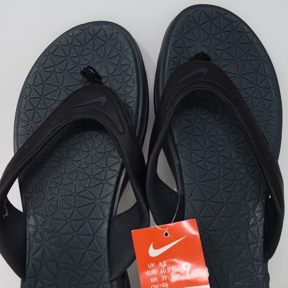 97b1a21d9e4c2 Nike Thong Flip Flop Sandals Black 705481-090 New